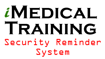 Automated security reminders for hipaa